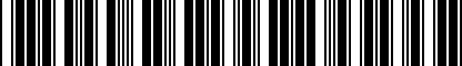 Barcode for 550010381