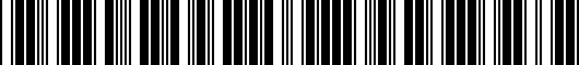 Barcode for 75020EXCLAMP