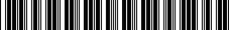 Barcode for A700500171