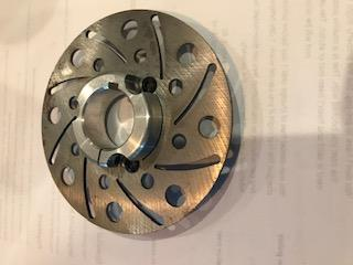 Brake Rotor Steel, AlL New 4.75, 2 piece includes Aluminium Brake Rotor Hub  for 1 1/4 inch axle